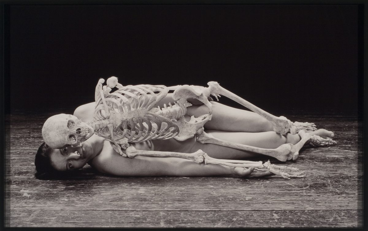 Self Portrait with Skeleton, 2003, Cibachrome print, 4/5.