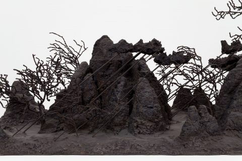 détail de Vent soudain, 2006-2007, Patrick Coutu, Bronze.