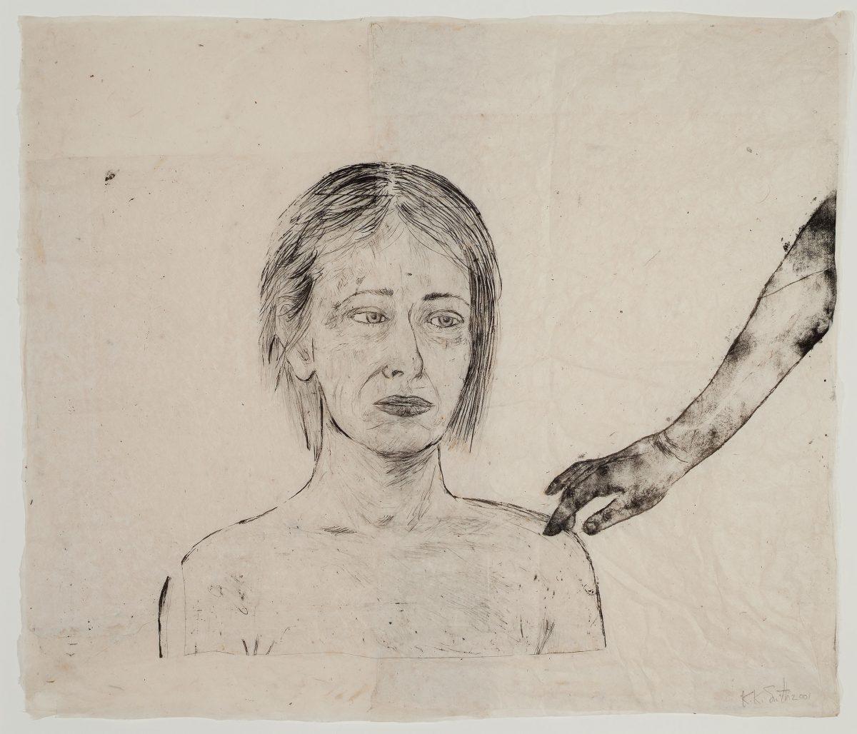 Sans titre, 2001, Kiki Smith, Techniques mixtes sur papier découpé, collé et superposé.