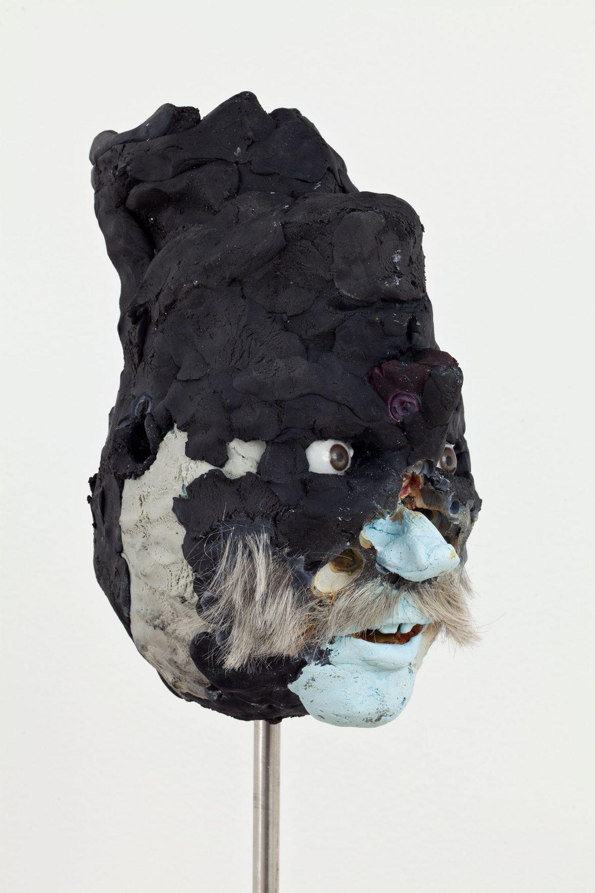 Untitled, 2012, David Altmejd, Argile époxy, plâtre, yeux en verre, cheveux synthétiques, peinture acrylique, fil de métal, résine, quartz et minéraux divers, pyrite, acier inoxydable.