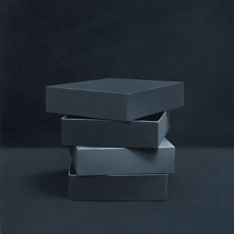 Boxes # 9, 2014, Oil on canvas.