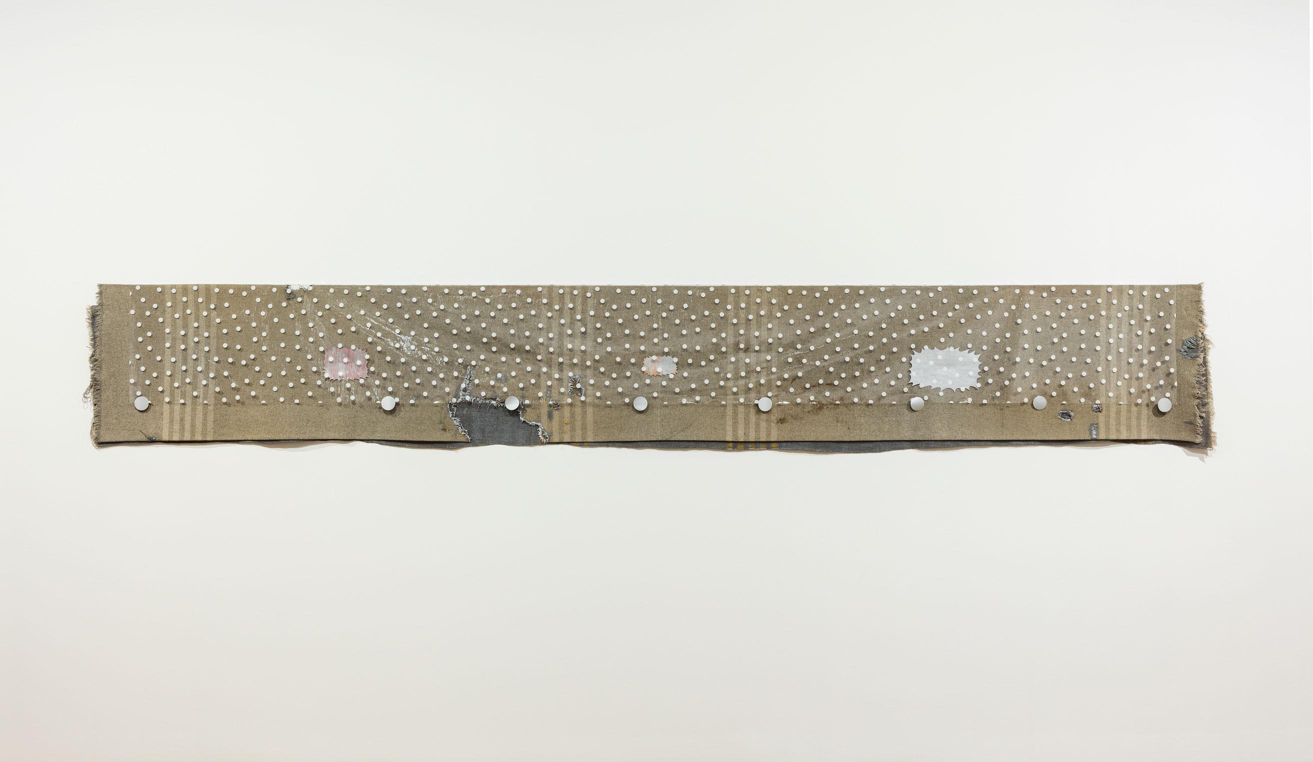 Violator, 2015, Liz Magor, Laine, plastique, gypse polymérisé, cellophane et autocollant.