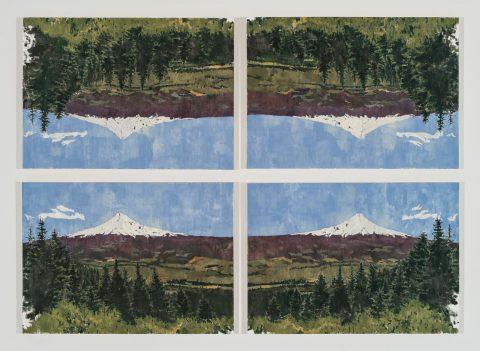 Untitled (after Mont Sainte-Victoire), 2012, Grier Edmundson, Huile sur toile, 4 éléments.
