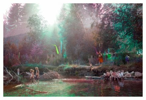 Rainbow River (de la série «Field Trip»), 2015, Sarah Anne Johnson, Épreuve à développement chromogène, 2/5.